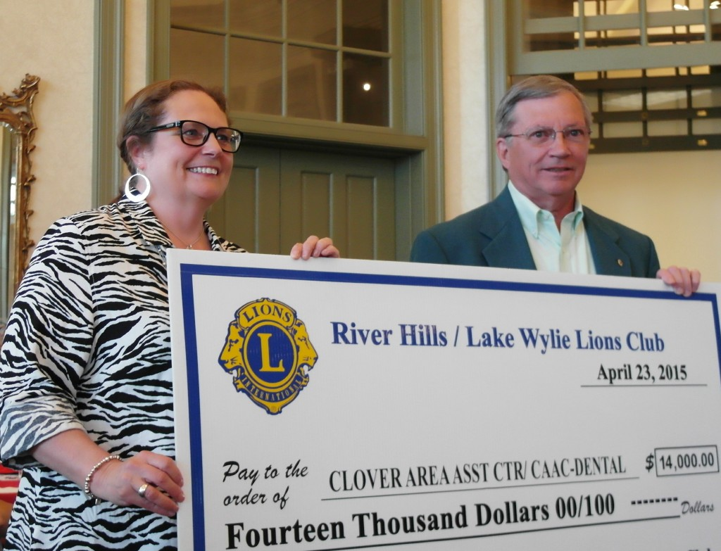 Lions Donation to the Clover Area Assistance Center